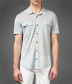 John Varvatos Short Sleeve Military Shirt
