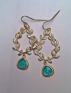 Emerald Vine Earrings - On Sale now! Use coupon code THANKS30 through 11/30.  www.etsy.com/shop/pacificandkey