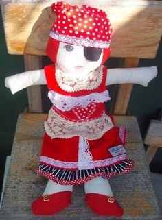 Pirate girl 40cm tall doll $50