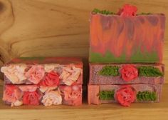 Rose and Patchouli This luxury soap is made with my best selling, skin loving blend of Golden Olive Oil, Rice Bran, Coconut and Sustainable Palm oils, also included are lashings of creamy Cocoa Butter and Shea butter.  www.rawsoaps.com.au