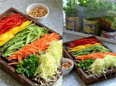 Friske vietnamesiske forårsruller med soya/lime sauce