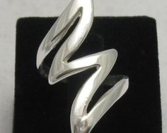 R000064 Long STERLING SILVER Ring Solid 925 Flash