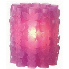 Purple 3D Butterfly Table Lamp    Would be great for Zoe's  purple and green fairy bedroom