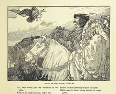 """Image taken from:  Title: """"Idylls of the King. Vivien. Elaine. Enid. Guinevere ... With ... decorations by G. W. Rhead and L. Rhead"""", """"Idylls of the King"""" Author: Tennyson, Alfred Tennyson - Baron Contributor: RHEAD, George Woolliscroft. Contributor: Rhead, Louis Shelfmark: """"British Library HMNTS 11647.g.41."""" Page: 63 Place of Publishing: New York Date of Publishing: 1898 Publisher: R. H. Russell Issuance: monographic Identifier: 003599001  Explore: Find this ite..."""