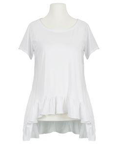 Damen Shirt A-Linie, weiss von Monday Afternoon | meinkleidchen Damenmode aus Italien Shirts & Tops, Peplum, Mens Tops, T Shirt, Women, Fashion, White Shirts, Simple Lines, Sequins