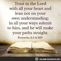 Proverbs 3:5,6 NIV http://www.drjamesdobson.org/home?aspxerrorpath=/:sc=FPN