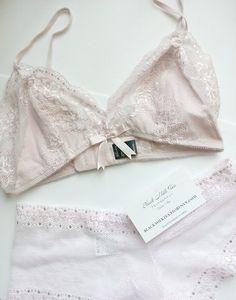 Blush Lace Bralette and Panty Set