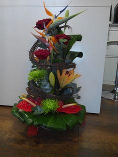 Centro de flor elaborado por Floristeria Alameda en cartagena