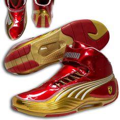 Puma Ferrari Super Light Tech Mid SF Shoes Red Gold