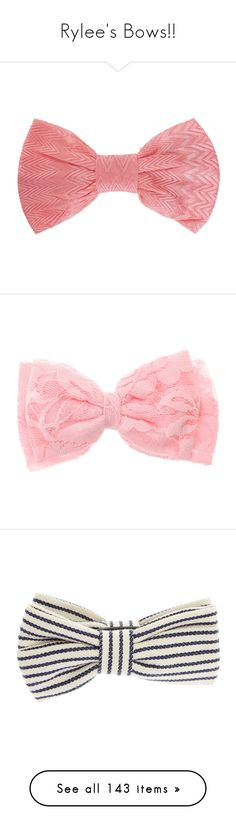 """""""Rylee's Bows!!"""" by rylee-cina ❤ liked on Polyvore featuring accessories, hair accessories, bow headwrap, hair bow accessories, pink hair accessories, pink bow headband, missoni, bows, hair and filler"""