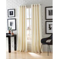 @Overstock - These soft chenille panels add a casual look to any window. These window panels feature a vertical ribbed design and silver metal grommets.  http://www.overstock.com/Home-Garden/Astor-Chenille-84-inch-Grommet-Window-Panel-Pair/6201486/product.html?CID=214117 $45.99