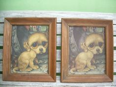 Vintage Gig Sad Big Eye Dog Pity Puppy Art Print Pictures Golden Boy | eBay