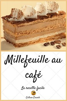 Pastry Recipes, Cake Recipes, Snack Recipes, Dessert Recipes, Desserts With Biscuits, No Bake Desserts, Delicious Desserts, Millefeuille Recipe, Cappuccino Torte