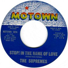 supremes 45 label | Stop! In The Name of Love/ I'm In Love Again by The Supremes
