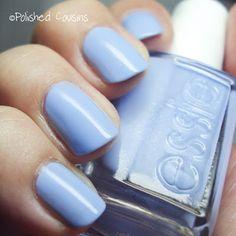 Polished Cousins: Blue Monday: Essie Bikini So Teeny