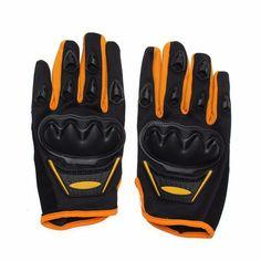 Unisex Polyester Motorcycle Gloves Protection Armor Full Finger Antiskid Mittens For Men Women at Banggood