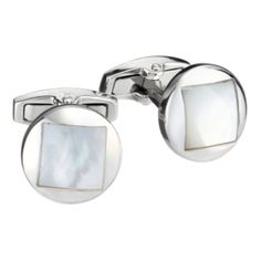 Gaventa present these fashionable and stylish round cufflinks with a square inset of mother of pearl cufflinks    The Gaventa collection features high quality, beautifully crafted cufflinks for a great price on http://coolcufflinks.co.uk