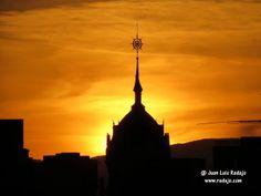 Puesta de sol desde la terraza Gymage de la Plaza de la Luna de Madrid