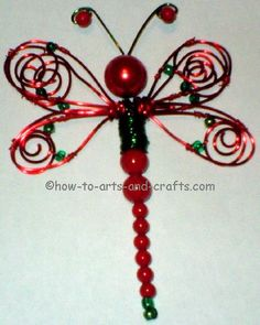 dragonfly wire craft. Click on box that says visit page for free 2 part tut