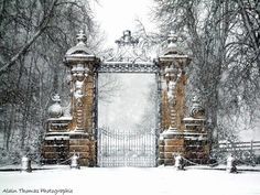 "minarachelle: "" Marienburg Castle is a Gothic revival castle in Lower Saxony, Germany "" Beautiful Gardens, Beautiful Homes, Beautiful Places, Gray Garden, Dark Tree, Entrance Gates, Old Stone, Garden Structures, Garden Stones"