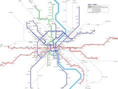 Köln Stadtbahn Netzplan Light Rail Map © R. Schwandl  _____________________________ Bildgestalter http://www.bildgestalter.net