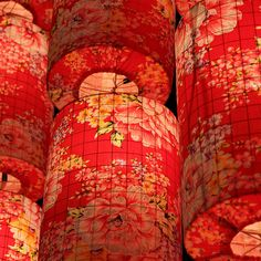 Chinese New Year Lantern Decoration- DIY w/ chicken wire and fabric lanterns Chinese New Year Lantern Decoration
