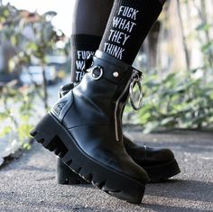 New post on mija-ditaliar Grunge Fashion, Gothic Fashion, Emo, Goth Shoes, Comme Des Garcons, Unique Shoes, Comfortable Outfits, Me Too Shoes, Combat Boots