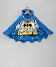 Loving this Blue Batman Caped Raincoat - Toddler on #zulily! #zulilyfinds