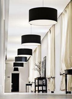 | P| By Malene Birger HQ, Copenhagen, Denmark  Love the drum pendants and drapes