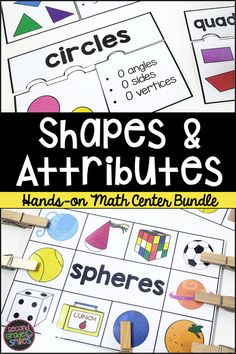 This 2D and 3D shapes math center set is filled with hands-on shape activities. These activities go beyond simple recognition and ask students to think deeply about shapes and attributes.2D shapes included are circles, triangles, quadrilaterals, pentagons, hexagons, heptagons, octagons, squares, rectangles, parallelograms, rhombuses/rhombi, and trapezoids. Fun math centers for second grade! Teaching Second Grade, Third Grade Math, Shape Activities, Learning Activities, Shape Puzzles, Guided Math, 3d Shapes, Hexagons, Elementary Math