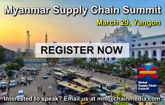 BOOK NOW! Make plans now to attend the Myanmar Supply Chain Summit on March 29 in Yangon - RSVP online at http://www.supplychain.mn/