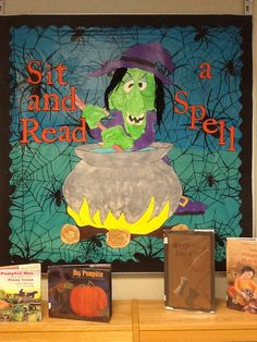 October Bulletin Board - Sit and Read a Spell