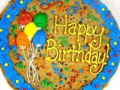 Birthday Cookie Cake Giant Chocolate Chip Cookies Big