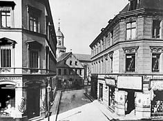 Berlin 1886 Eingang in den Georgenkirchhof (Nordoestlich des Alexanderplatzes)