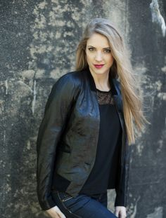 """""""Silja"""" Blazer leather jacket. AW2013/14"""