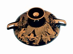 Red-Figure Cup Showing the Death of Pentheus (exterior) and a Maenad (interior)  Douris (painter) Greek (active c. 500–460 B.C.) Late Archaic period (500–480 B.C.) c. 480 B.C. Terracotta
