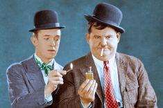 Laurel and Hardy in color. Stan Laurel Oliver Hardy, Laurel And Hardy, Norvell, Sound Film, Silent Film, Live Action, Nostalgia, Films, Dads