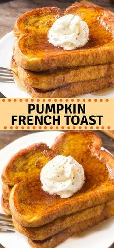 French toast that's perfect for fall! This Pumpkin French Toast is extra fluffy,. - French toast that's perfect for fall! This Pumpkin French Toast is extra fluffy,. French toast that's perfect for fall! This Pumpkin French Toast is. Pumpkin French Toast, Bread For French Toast, Baked French Toast, Fluffy French Toast, French Toast Waffles, Fall Breakfast, Breakfast Pancakes, Breakfast Snacks, Mexican Breakfast