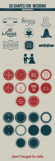 30 Shapes for Wedding