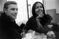 Actress Marpessa Dawn with her husband George Eric Vander. Marpessa was an American-born French actress, singer and dancer. see: 'Black Orpheus' 1959 Black Woman White Man, Black Love, Black Is Beautiful, Beautiful Women, Interacial Love, Interacial Couples, Marpessa Dawn, Biracial Couples, Mixed Couples