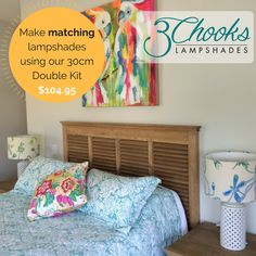 Learn how to make lampshades with this fun and easy kit. Available in a range of sizes - create table lamps, bedside lamps, hanging pendants. Make A Lampshade, Lampshades, Hanging Pendants, Bedside Lamp, Kit, How To Make, Home Decor, Lamp Shades, Pendant Earrings