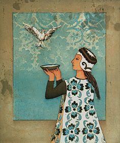 Kirsi Neuvonen,Ystävyyden malja/ A Toast for Friendship Finland Pre Raphaelite, Maya Angelou, Water Lilies, Various Artists, Figurative, Finland, Imagination, Mystery, Friendship