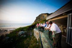 Annie & Carlo's wedding at Watergate Bay Hotel. Photography by Tyrone Mackenzie.