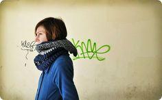 braga con capucha - 3 colores, Crochet, Bufandas