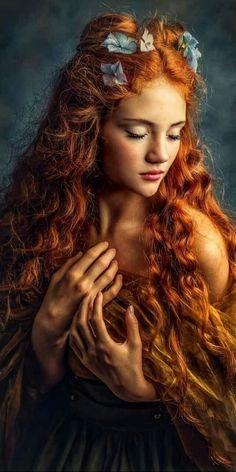 Fantasy Photography, Fine Art Photography, Portrait Photography, Beautiful Red Hair, Beautiful Redhead, Redhead Girl, Portrait Inspiration, Portrait Art, Art Girl