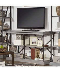 Another great find on #zulily! Frosting Gray Iron & Wood Console Table #zulilyfinds