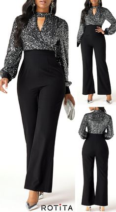 Jumpsuits&Rompers online for sale Classy Dress, Classy Outfits, Chic Outfits, Look Fashion, Hijab Fashion, Fashion Outfits, Spring Fashion, Fashion Shoes, Stylish Dresses