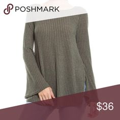 Loose knit sweater Beautiful color Bell sleeve, perfect match for a pair of liquid leggings. True to size Cotton blend Sweaters Cardigans