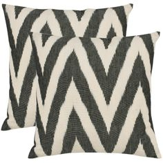 With a fresh, contemporary eye-catching chevron pattern, these decorative pillows are a lovely addition to any decor. These throw pillows feature a contem...