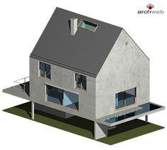 Rudin House 3D model House 3d Model, Autocad, Scale, Studio, Home, Arquitetura, Trendy Tree, Detached House, Floor Layout